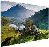 Landschap in Wales Glas 60x40 cm - Foto print op Glas (Plexiglas wanddecoratie)