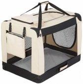Auto Bench reisBench nylon Bench - honden Bench XXXXL beige-122x79x79cm   stoffen bench   vouwbench   softbench - Honden > 50kilo