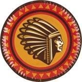 48 stuks: Set a 6 Bordjes - Indianen - 23cm