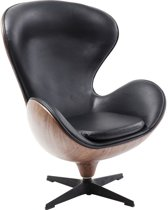Kare Draaifauteuil Lounge Black Walnut