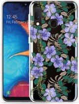 Galaxy A20e Hoesje Purple Flowers