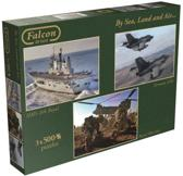 Falcon By Sea, Land and Air - 3 in 1 Puzzel - 500 stukjes