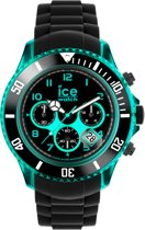 Ice-Watch Ice-Chrono Black Turquoise Big - Horloge - Zwart-  50 mm