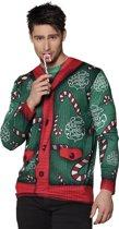 Fotorealistische kersttrui Candy cane (XL)