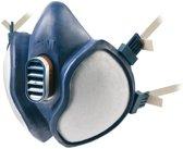 3M Halfgelaatsmasker 4255 voor eenmalig gebruik FFA2P3R D, EN 405:2001+A1:2009, uitademventiel, 300g blauw