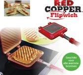 Bulbhead Red Copper Flipwich Pan Tosti-pan Tosti-ijzer - Sandwichmaker