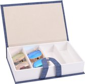 Fliex Brillen doos Zonnebrillen Blauw - Voor 4 brillen