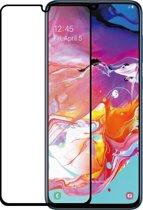 Grab 'n Go flat tempered glass screenprotector - Voor Samsung Galaxy A70 - Zwart frame