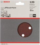 Bosch - 5-delige schuurbladenset 150 mm, 120