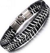 Schitterende leren armband