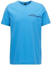 HUGO BOSS T-SHIRT CREW NECK 24 LOGO VAN KATOEN BRIGHT BLUE