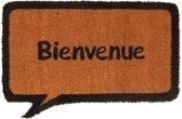 Kokosmat tekstwolk Bienvenue - 40 x 60 cm