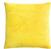 Velvet Corduroy Geel Kussenhoes | Rib Fluweel | 45 x 45 cm