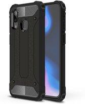 Samsung Galaxy A40 Hoesje - Armor Hybrid - Zwart