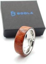 Padouk ring Titanium 8 / US