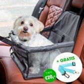 Grijze Auto Hondenmand met GRATIS Autogordel Hondenriem | Grijs | Automand | Hondenmand | Hondenstoel | Hondenzitje | Zwart | Hond | Mand | Autostoel | Hondenriem | Autohondenriem | Hondenmand Auto