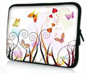 Sleevy 14 laptophoes gekleurde vlinders - laptop sleeve