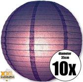 10 paarse lampionnen met een diameter van 35cm
