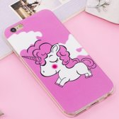 Let op type!! For iPhone 6 Plus & 6s Plus Noctilucent IMD Horse Pattern Soft TPU Back Case Protector Cover