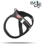 Curli Magnetisch sluitend harnas zwart 2XS 28-32cm hondentuigje