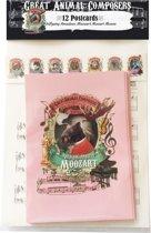 Wolfgang Amadeus Mozart Moozart Moose (Eland) Animal Composer Ansichtkaarten - 12 stuks