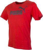Puma Ess. No.1 Tee  Sportshirt - Maat M  - Mannen - rood/grijs