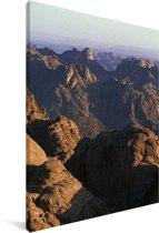 Uitzicht over de Sinaï bergen in Egypte Canvas 120x180 cm - Foto print op Canvas schilderij (Wanddecoratie woonkamer / slaapkamer) XXL / Groot formaat!
