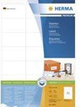 HERMA Etiketten Premium A4 wit 70x41 mm Papier 4200 St.