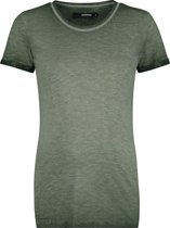 Supermom Shirt Washed - Army - Maat L