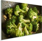 Roergebakken verse broccoli Plexiglas 90x60 cm - Foto print op Glas (Plexiglas wanddecoratie)