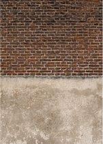 Stapelgoed - Fotobehang - Stenen Muur - Rood - 200x280cm