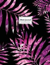 Blank Journal (Diary, Notebook) - Purple Palm Leaf Tropical Design