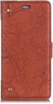 Mobigear Copper Buckle Retro Wallet Hoesje Bruin LG V40 ThinQ