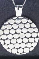 Zilveren Rond design XL ketting hanger