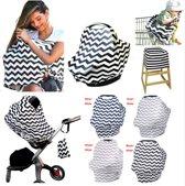 Borstvoedingsdoek - Trendy 3 in 1 borstvoedingsdoek - Verzorgingssjaal - Baby verzorgdoek - Grijs / Beige