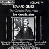 Grieg: Complete Piano Music Vol 5 / Eva Knardahl