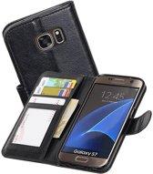 Samsung Galaxy S7 G930F Portemonnee Hoesje Booktype Wallet Case Zwart
