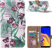 Xssive Hoesje voor Samsung Galaxy J4 Plus - Book Case - Tulpen