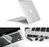 MacBook Air 13.3 inch 3 in 1 Kristal patroon Hardshell ENKAY behuizing met ultra-dun TPU toetsenbord Cover en afsluitende poort pluggen Wit