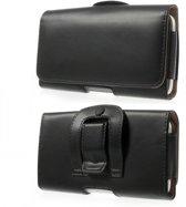 Leren flip wallet hoesje + clip broekclip riem Iphone 6 Plus / Iphone 7 Plus / Iphone 8 Plus