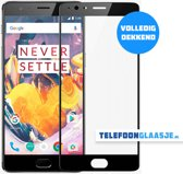 OnePlus 3T Full Cover glazen screenprotector (ZWART) | Tempered glass | Gehard glas