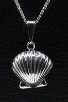 Zilveren Sint Jacobs schelp ketting hanger