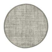 Placemat linnen rond grijs