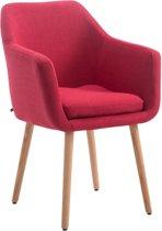 Clp Utrecht - Eetkamerstoel - Stof - Rood kleur onderstel : Natura