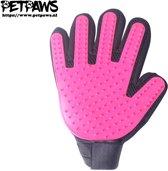 PetPaws - Hond en Kat Vachtverzorgingshandschoen - Roze