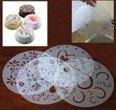 Taart sjablonen - cake sjablonen - taart versiering stencils - cake stencils- 4 stuks