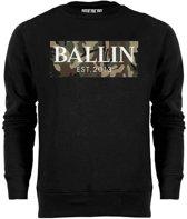 Ballin Est. 2013 - Heren Sweaters Camo Army Sweater - Zwart - Maat M
