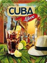 Muurplaatje Cuba Libre 15 x 20 cm