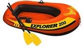 Intex Opblaasboot Explorer Pro 200 - inclusief pomp en peddels