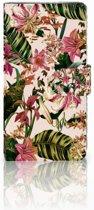 Sony Xperia XZ1 Boekhoesje Flowers